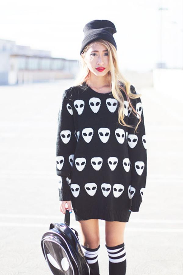 sweater Choies choies sweater black sweater