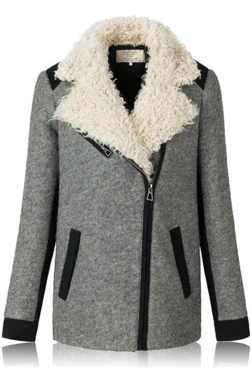 Euroamerican Fashion Lapel Woolen Overcoat,Cheap in Wendybox.com