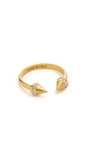 mini clear ring gold jewels