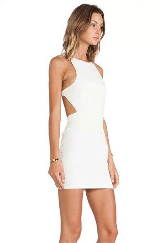 dress cut-out dress