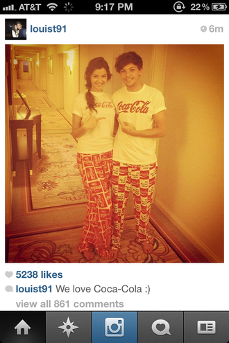 t-shirt pajama pants pajamas louis tomlinson eleanor calder pants