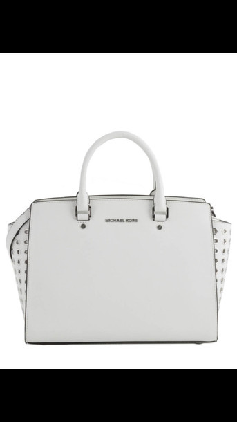 bag michael kors bag white bag