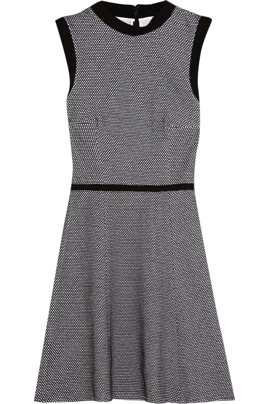 Honeycomb cotton-blend jersey mini dress | Tibi | THE OUTNET