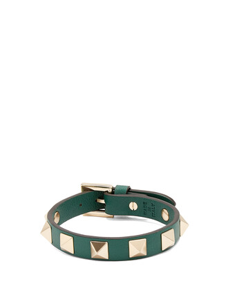 leather green jewels