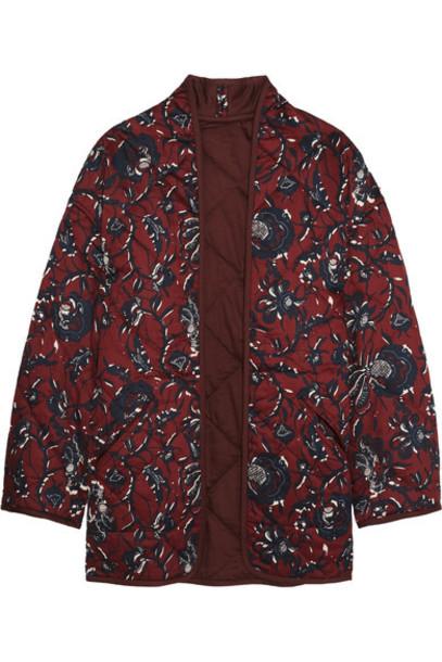 52c92b258e Étoile Isabel Marant Étoile Isabel Marant - Daca Floral-print Quilted Cotton  Jacket - Burgundy