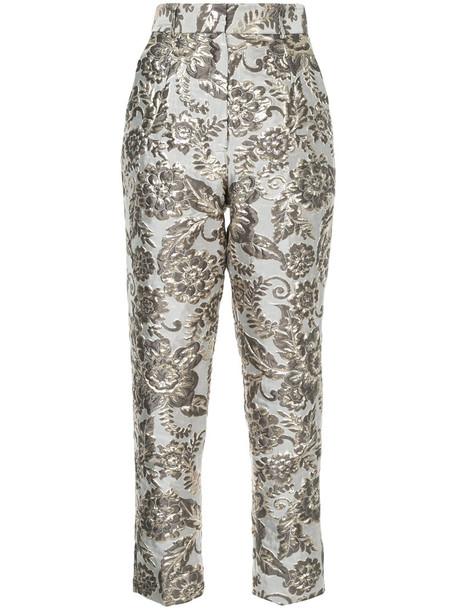 metallic women grey pants