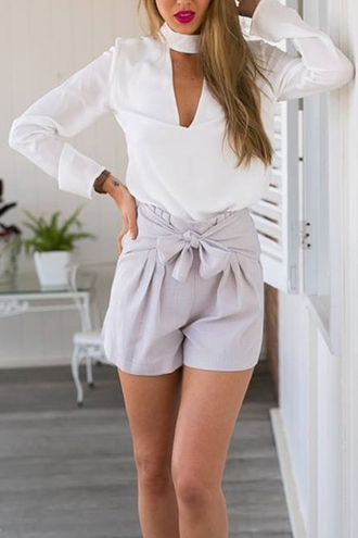 blouse white elegant classy fashion style casual chic long sleeves