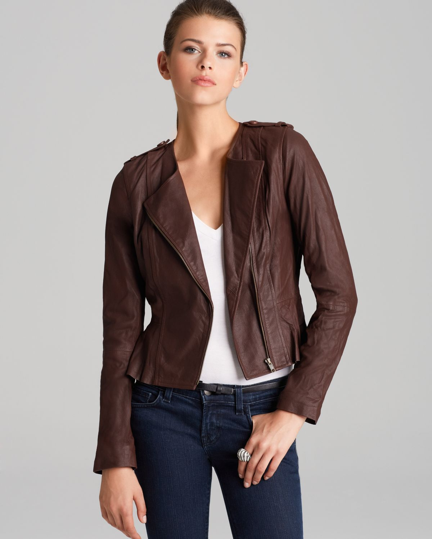 BB Dakota Leather Jacket - Lamb Peplum | Bloomingdale's