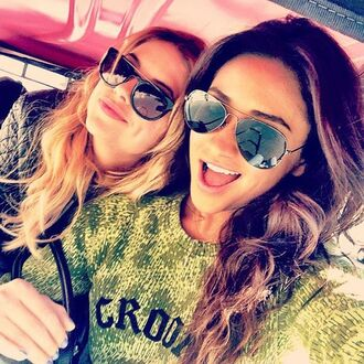 sweater green pilot pretty little liars sunglasses jacket jumpsuit