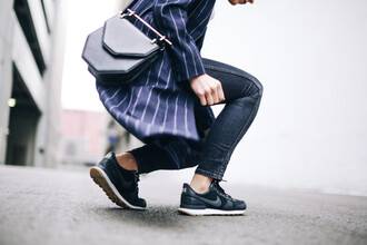 happily grey blogger coat t-shirt shoes bag