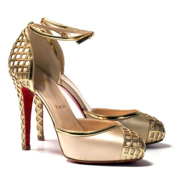 shoes pumps christian louboutin annees folles pumps champagne