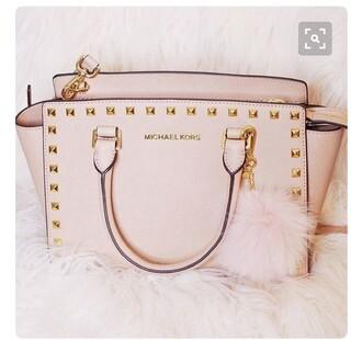 bag light pink handbag designer bag micheal kors bag