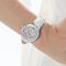Automatic white leather watch - nova