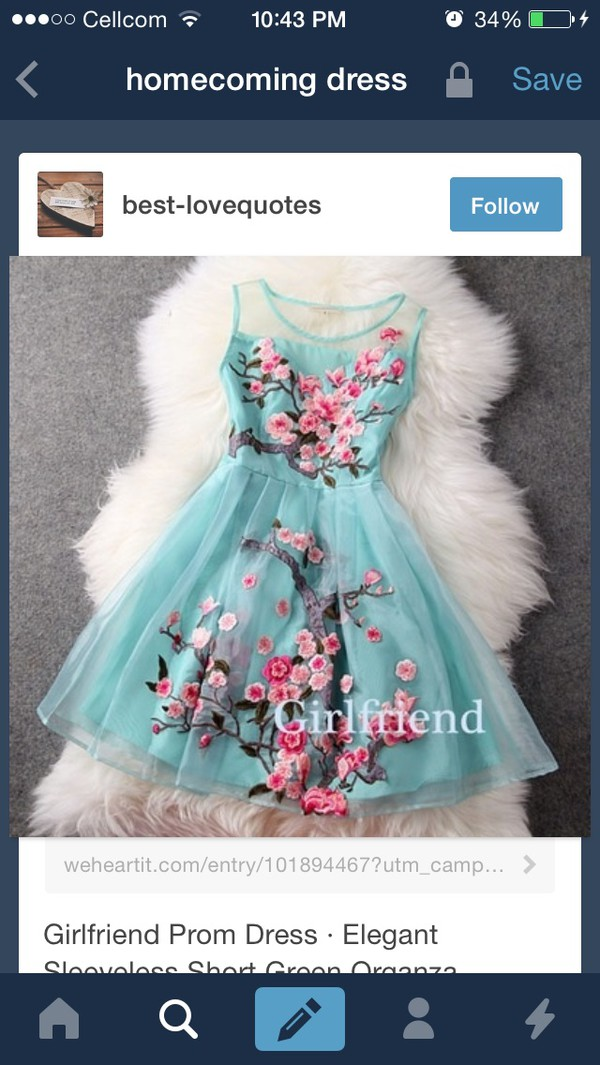 mint floral dress homecoming dress homecoming dress