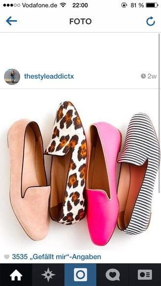 flats patterned shoes