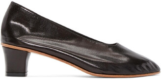 high heels glove heels leather black black leather shoes