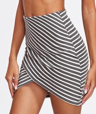 skirt girly mini mini skirt stripes