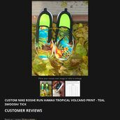 shoes,tropical nike roshe run,nike roshe run hawaii,hawaii shoes,palm tree print,nike shoes,nike roshe run,nike roshes floral,custom nike roshe runs,crystal volcano
