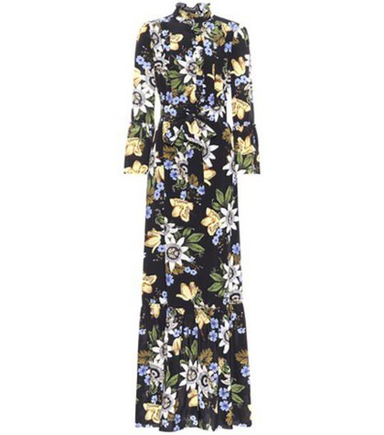Erdem dress silk dress floral silk black