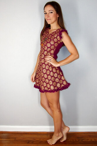 dress boho gold burgundy ruffle mini dress ethnic vintage fall outfits fall colors christmas