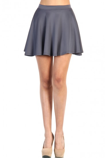 LoveMelrose.com From Harry & Molly | Skater Skirt - Gray