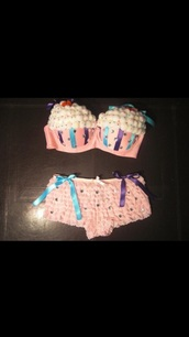 cupcake,bra,underwear,costume,halloween,cake,halloween costume