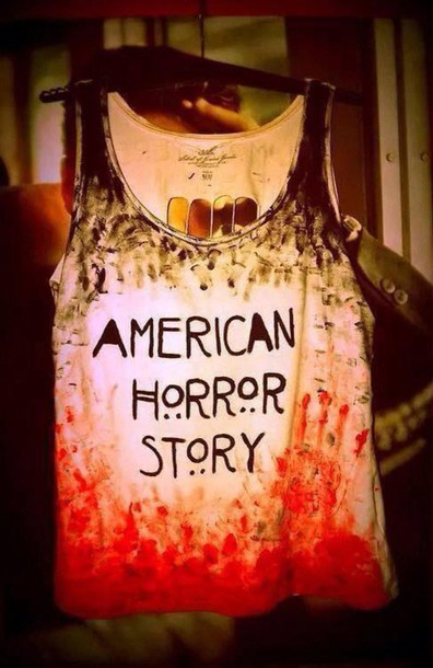 shirt bloody orange american horror story blood red