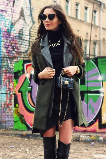 oh my blog skirt jewels shoes bag sunglasses coat