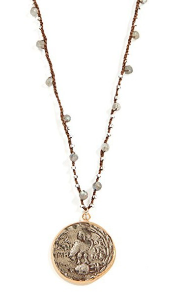 Native Gem coin necklace necklace gold jewels