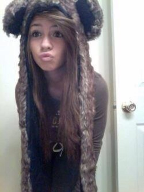 hat fur brown beanie