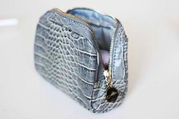 bag blue clutch party