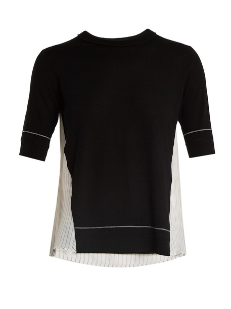 Sonia Rykiel t-shirt shirt t-shirt wool black top
