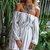 Lone Star White Stripe Off The Shoulder Dress