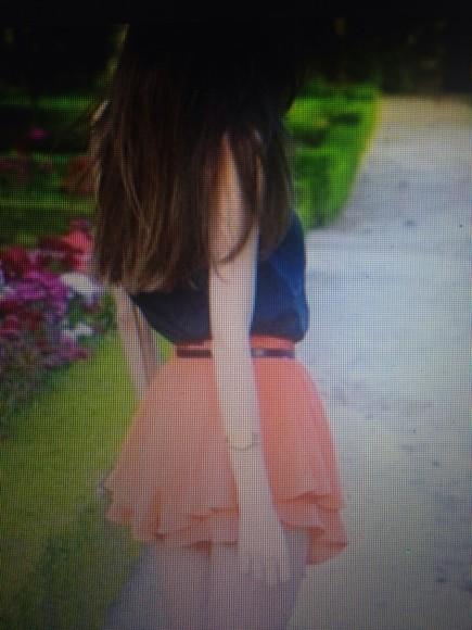 coral skirt skort puffy