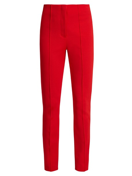 Diane Von Furstenberg high red pants