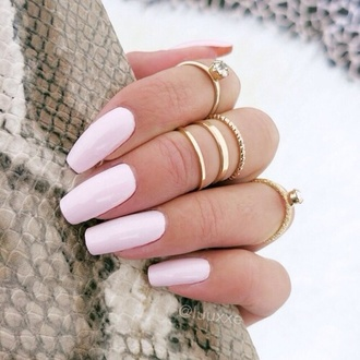 stacked jewelry jewels gold ring nails