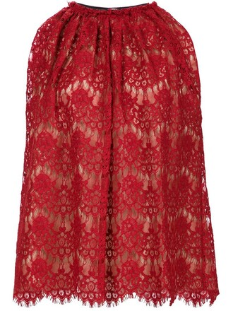 top lace top lace red