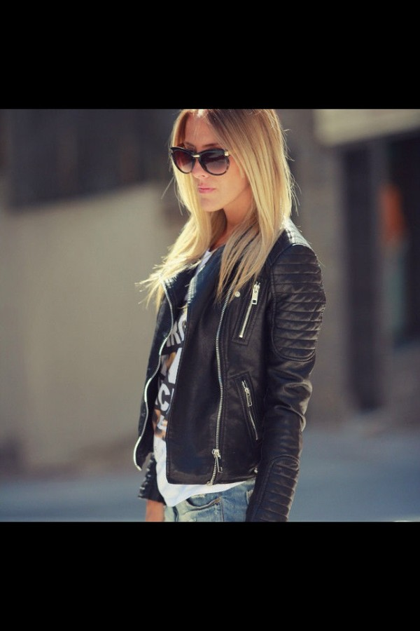 coat black leather jacket winter style zara jacket www.zara.com jacket