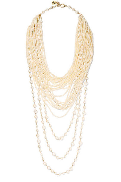 Rosantica pearl necklace gold white jewels
