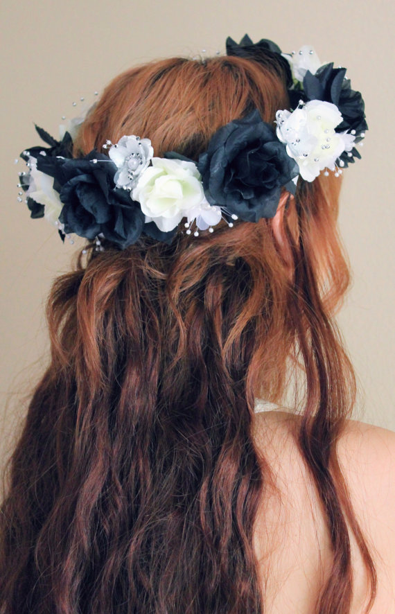 db84fab911dd5 Black and White Flower Crown