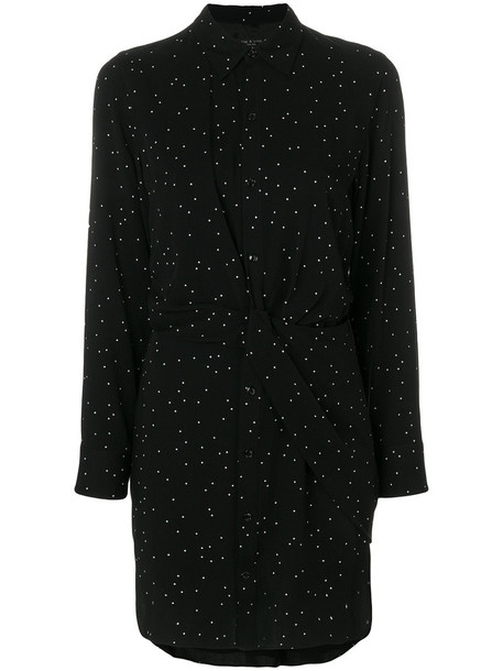 Rag & Bone dress shirt dress women black silk