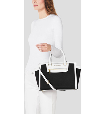 bag michael kors mk satchel bag tote bag purse handbag color block purse michael kors colorblock satchel