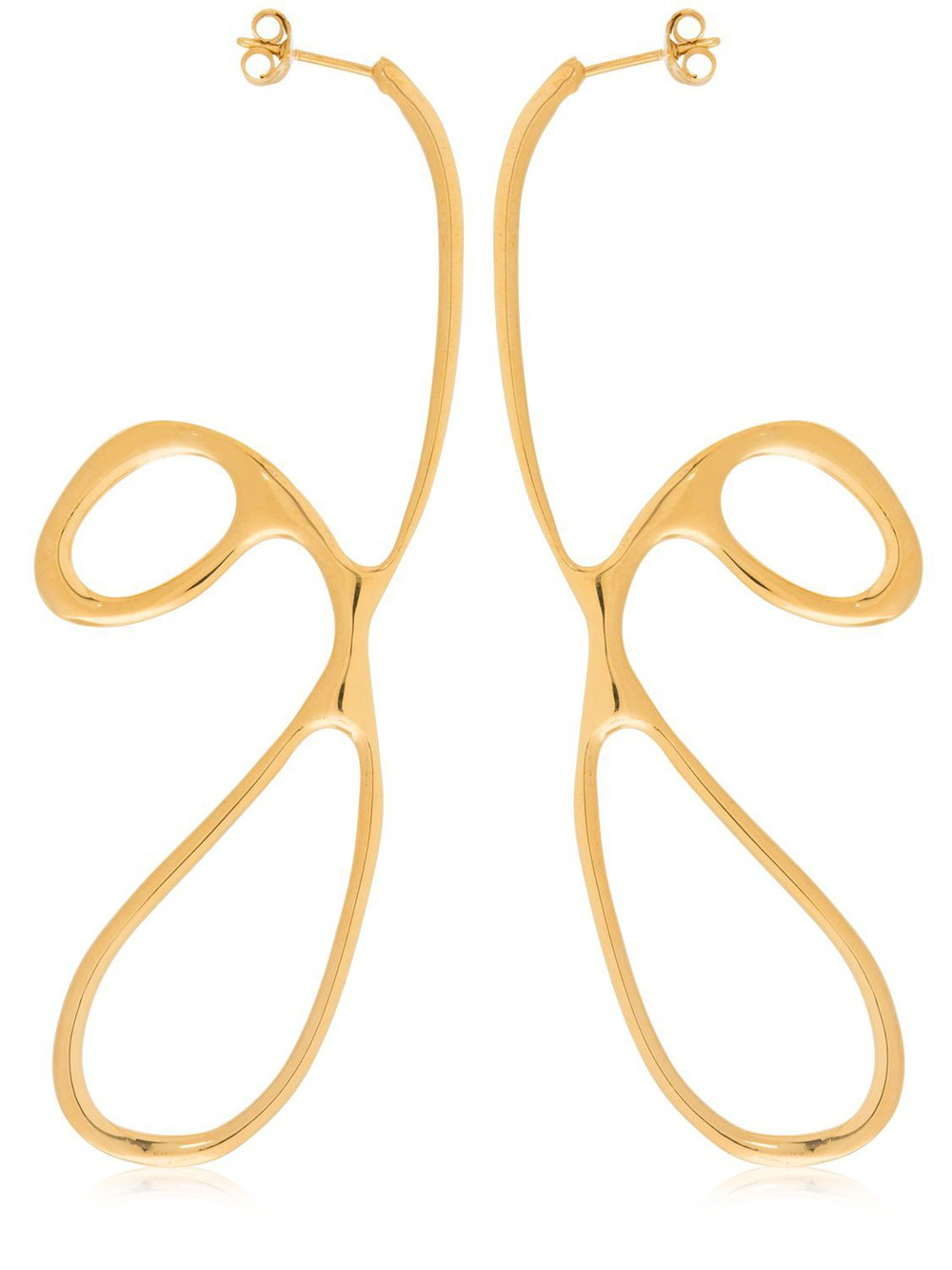 BAR JEWELLERY Curl Gold Plated Earrings