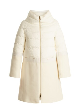 coat quilted white