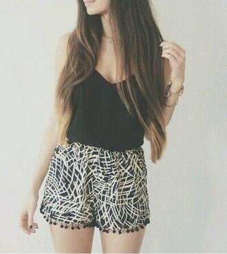 tank top top shorts black stripes summer singlet