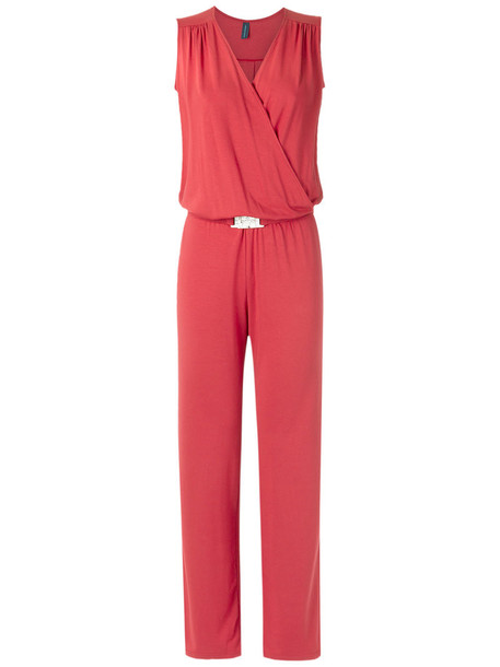 Lygia & Nanny - panelled jumpsuit - women - Spandex/Elastane/Viscose - 42, Red, Spandex/Elastane/Viscose