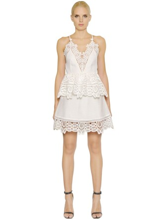 dress peplum dress lace white