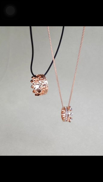 jewels couples necklaces crown ring rose gold ring gold ring