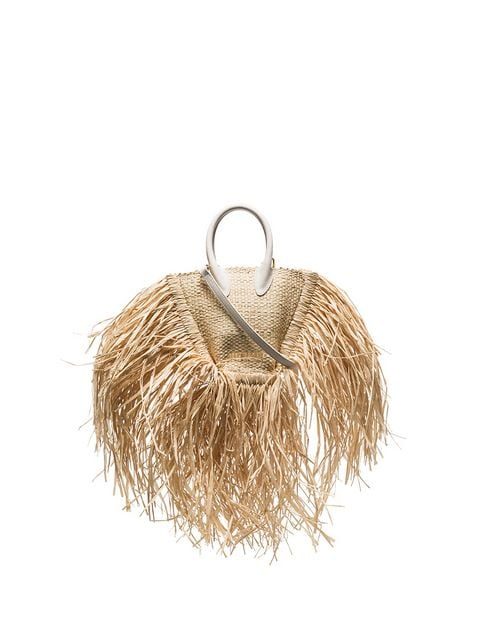 Jacquemus Beige Le Petit Baci Straw And Leather Bag - Farfetch
