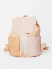 bag,boho,pastel,backpack,cute,lovely,soft,chic,sleek,back to school,leather,brown,tan,school bag,nude,leather bag,nude bag,blush pink,leather backpack,nudee,pastel bag